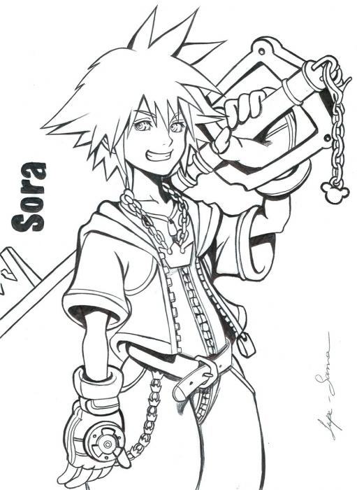 Kingdom Hearts por lupesama